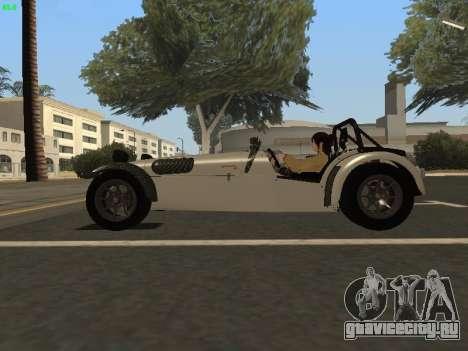 Caterham 7 Superlight R500 для GTA San Andreas вид слева