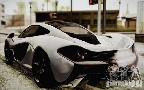 McLaren P1 2014 v2 для GTA San Andreas вид слева