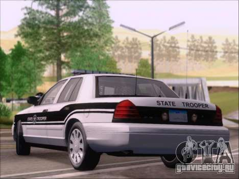 Ford Crown Victoria San Andreas State Trooper для GTA San Andreas вид сзади слева