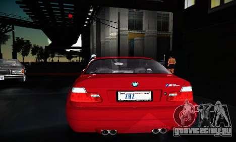 BMW E46 M3 CSL для GTA San Andreas вид сбоку