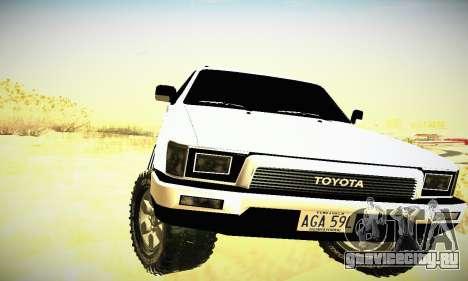 Toyota 4Runner 1995 для GTA San Andreas вид изнутри