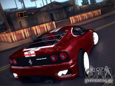 Ferrari 360 Challenge Stradale для GTA San Andreas вид сзади слева