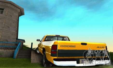 Dodge Ram 2500 для GTA San Andreas вид сбоку