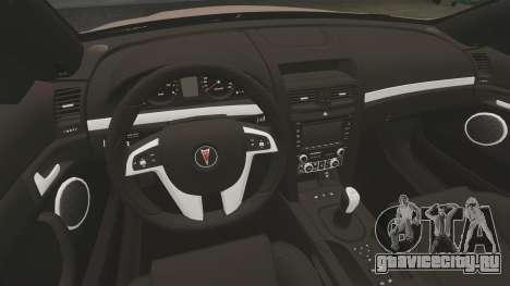 Pontiac G8 GXP [VE] 2009 для GTA 4 вид изнутри