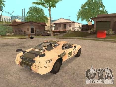 AMC Javelin AMX для GTA San Andreas вид сзади слева