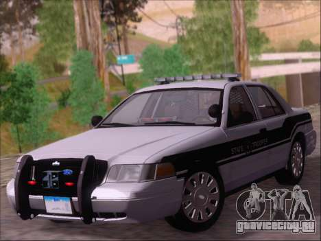 Ford Crown Victoria San Andreas State Trooper для GTA San Andreas вид слева