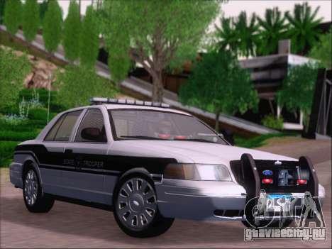 Ford Crown Victoria San Andreas State Trooper для GTA San Andreas вид сбоку