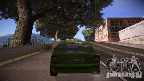 Skoda Fabia для GTA San Andreas вид сзади слева