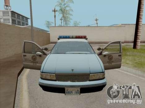 Chevrolet Caprice LAPD 1991 для GTA San Andreas вид сзади слева