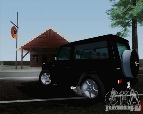 Mercedes-Benz G500 1999 Short для GTA San Andreas вид сзади слева