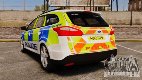 Ford Focus Estate Norfolk Constabulary [ELS] для GTA 4 вид сзади слева