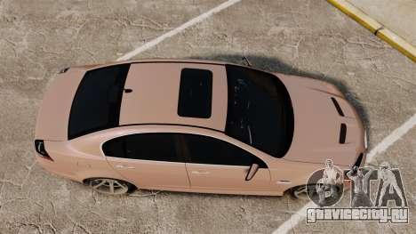 Pontiac G8 GXP [VE] 2009 для GTA 4 вид справа