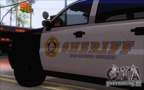 Полицейский джип из GTA V для GTA San Andreas вид сзади слева