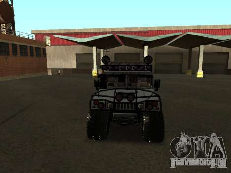 Hummer H1 Offroad для GTA San Andreas вид изнутри