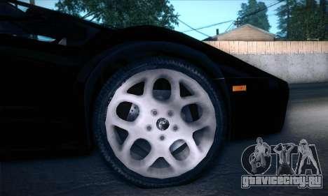 Lamborghini Diablo VT6.0 для GTA San Andreas вид изнутри