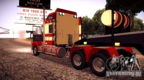 Kenworth RoadTrain T800 для GTA San Andreas вид сзади