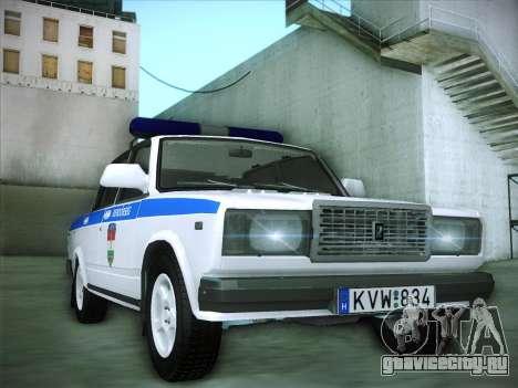 Lada 2107 Rendőrség для GTA San Andreas