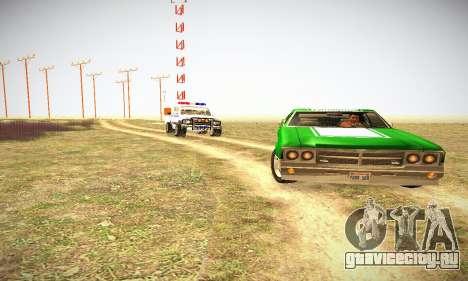 GTA IV Sabre Turbo для GTA San Andreas вид изнутри