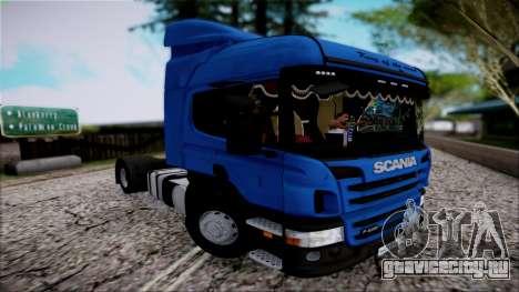 Scania P400 для GTA San Andreas вид сзади