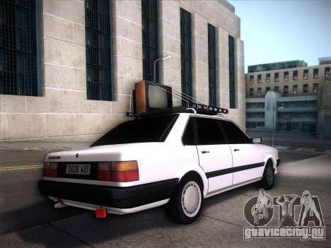 Audi 80 B2 v2.0 для GTA San Andreas вид изнутри