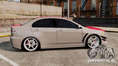 Mitsubishi Lancer Evolution X GSR 2008 для GTA 4 вид слева