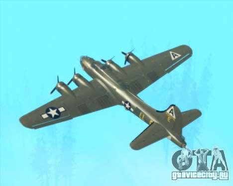 B-17G для GTA San Andreas вид сверху