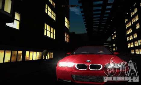 BMW E46 M3 CSL для GTA San Andreas вид изнутри