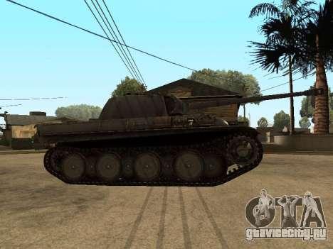 Pzkfpw V Panther для GTA San Andreas вид сзади слева