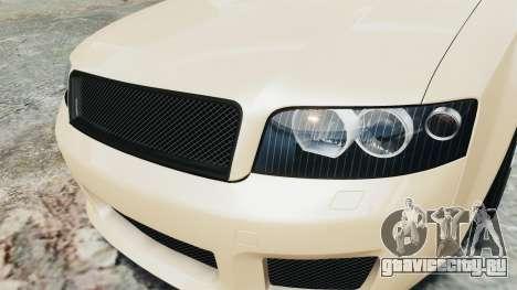 Audi S4 2004 для GTA 4 вид сзади