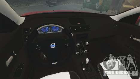 Volvo C30 T5 2009 для GTA 4 вид изнутри