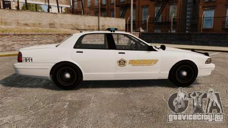 GTA V Police Vapid Cruiser Sheriff для GTA 4 вид слева