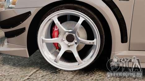 Mitsubishi Lancer Evolution X GSR 2008 для GTA 4 вид сзади