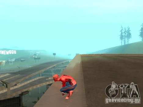 Присесть как человек-паук для GTA San Andreas