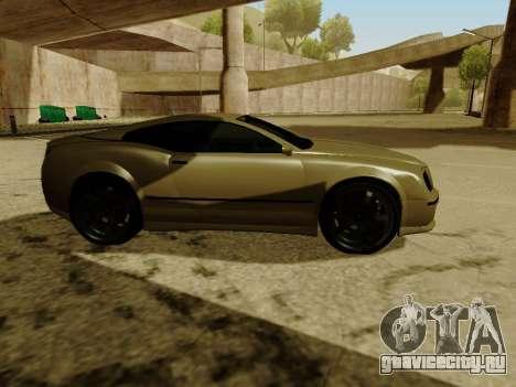 Cognocsenti Cabrio из GTA 5 для GTA San Andreas вид изнутри
