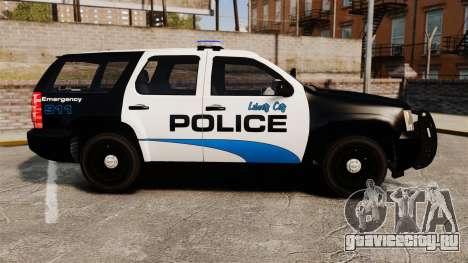 Chevrolet Tahoe Police [ELS] для GTA 4 вид слева