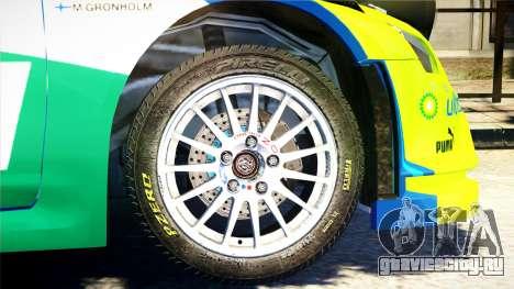 Ford Focus RS M Gronholm Rally Finland WRC для GTA 4 вид справа