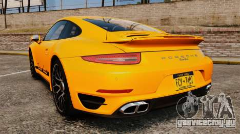 Porsche 911 Turbo 2014 [EPM] Turbo Side Stripes для GTA 4 вид сзади слева
