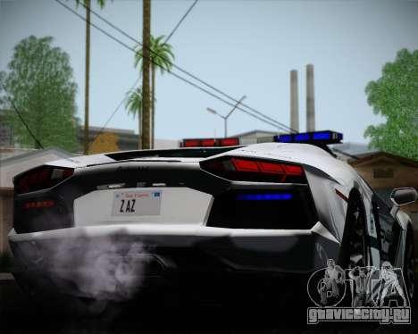 Lamborghini Aventador LP700-4 2012 RCPD V1.0 для GTA San Andreas вид сбоку