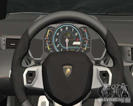 Lamborghini Aventador LP700-4 2012 RCPD V1.0 для GTA San Andreas вид снизу