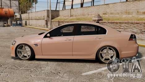 Pontiac G8 GXP [VE] 2009 для GTA 4 вид слева