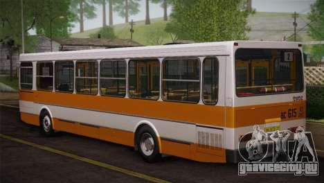ЛиАЗ 5256.00 Скин-пак 3 для GTA San Andreas вид сзади слева