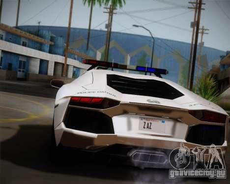 Lamborghini Aventador LP700-4 2012 RCPD V1.0 для GTA San Andreas вид сзади слева