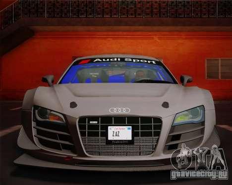 Audi R8 LMS Ultra v1.0.1 DR для GTA San Andreas вид изнутри