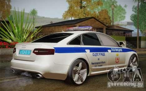 Audi RS6 Police для GTA San Andreas вид слева