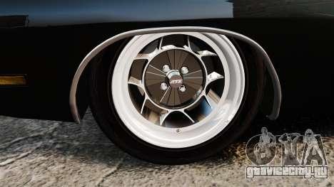 Dodge Charger 1969 для GTA 4 вид сзади