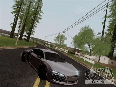 Audi R8 V10 Plus для GTA San Andreas вид изнутри