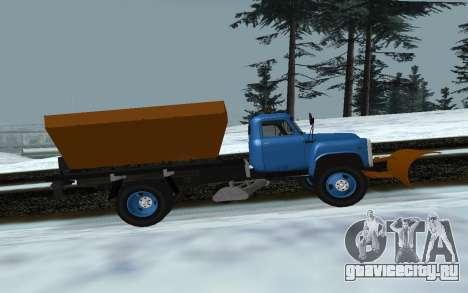 ГАЗ 53 Снегоуборщик для GTA San Andreas вид слева