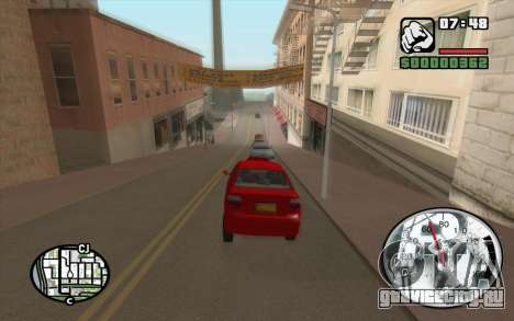 Speedometr da Rockstar для GTA San Andreas второй скриншот
