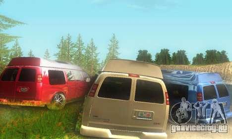GMC Savana для GTA San Andreas вид сзади слева
