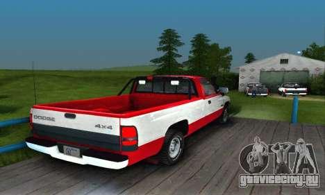 Dodge Ram 2500 для GTA San Andreas вид справа